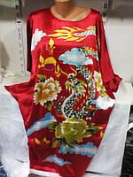 Женская атласная платье туника