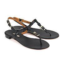 Кожаные сандалии для стильных женщин - недорого Арт. 4016-5black