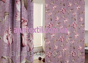 """Шторка блекаут """"Переплетення квітів"""", фото 2"""