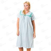 Хлопковая ночная рубашка Sentina батал Арт. SNTN-325 купить ночные сорочки недорого оптом