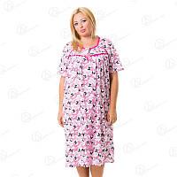 Красивая ночная сорочка-рубашка Sentina батал Арт. SNTN-332 купить ночные рубашки батал дешево оптом
