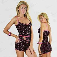 """Турецкий комплект двойка Фиолетовый Фламинго """"ONDER ISIK"""" (майка + шорты) Арт. ONDR2320"""