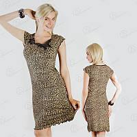"""Хитовая ночная рубашка """"ONDER ISIK"""" леопардовый окрас Арт. ONDR9107 купить турецкие ночнушки недорого"""