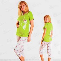 "Комплект двойка Green Kitty ""ONDER ISIK"" (футболка + бриджи) Арт. ONDR2298 цена низкая, Турецкое нижнее белье"