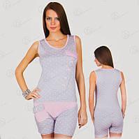 """Комплект двойка """"ONDER ISIK"""" (майка + шорты) Арт. ONDR2366 купить майки и шорты для сна"""