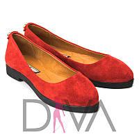 Балетки женские замшевые 5012-715-1red интернет-магазин женской обуви недорого