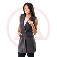 Классическая женская жилетка 7003grey интернет магазин жилеток