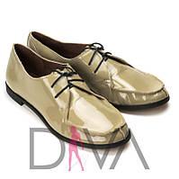 Красивые туфли женские кожаные лак Арт. 5011-5-2vizon интернет-магазин женской обуви недорого