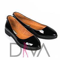 Хорошие балетки черные из лакированной кожи Арт.5012-715-2black купить балетки для женщин