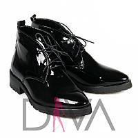 Зимние туфли женские из лакированной кожи Арт.7001-51-2blackz купить теплую обувь в интернет-магазине опт
