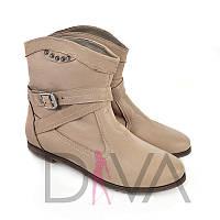 Зимние женские ботиночки из кожи Арт.7004vizonz купить зимнюю обувь оптом дешево от производителя 2017