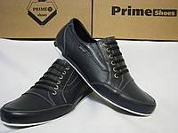 Спортивные кожаные туфли без шнурков PRIME