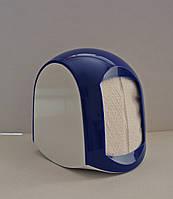 Бокс, диспенсер для салфеток пластиковый синий