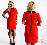 Красное женское платье со змейкой
