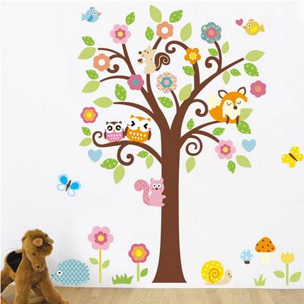 """Наклейка на стену, украшения стены наклейки  """"Дерево в детскую"""" 135см*115см (2листа 50*70см и 40*60см), фото 2"""
