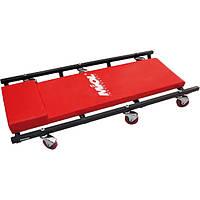Тележка-лежак для механика подкатная металл., 6 колес Miol 80-685