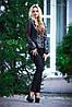 Классический кожаный жакет куртка, с перфорацией, 42-48 размера