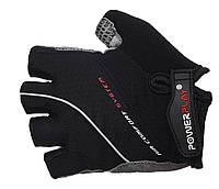 Перчатки для велосипедистов с гелем Power Play. Черный