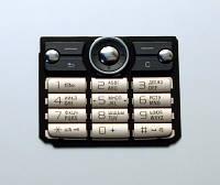 Клавиатура для Sony Ericsson G700, золотистая /Кнопки/Клавиши /сони эриксон