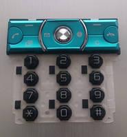 Клавиатура для Sony Ericsson K660i, Синяя /Кнопки/Клавиши /сони эриксон