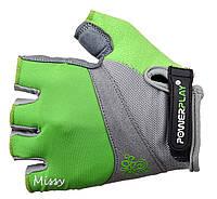 Женские перчатки для велосипеда с дополнительной защитой Power Play. Зеленый