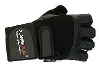Мужские перчатки для бодибилдинга и фитнеса. Черный