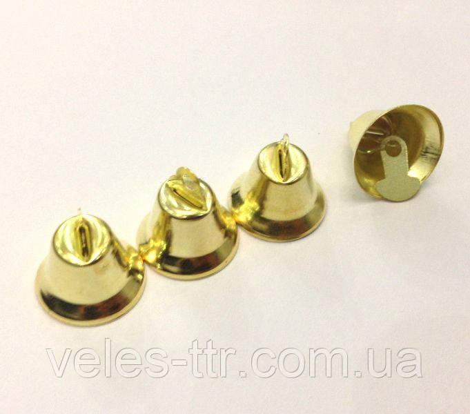 Колокольчик декоративный золото 18 мм
