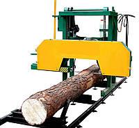 Резка древесины пилорамой
