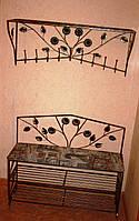 Мебель в прихожую (кованая банкетка и вешалка ) 30