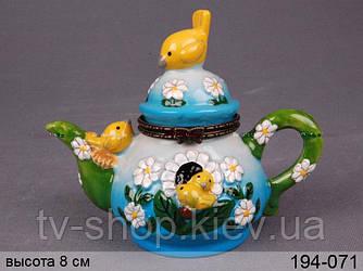 Шкатулка Птички на чайнике ,Lefard
