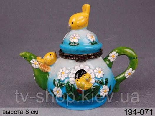 Шкатулка Птички на чайнике