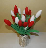 Тюльпаны для любимой. Подарок ручной работы