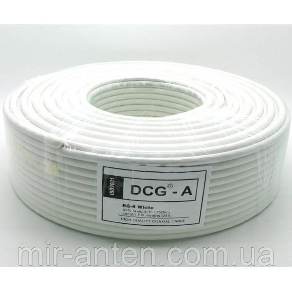 Коаксіальний кабель DCG-A RG-6 (100 м.) 75 Ом білий