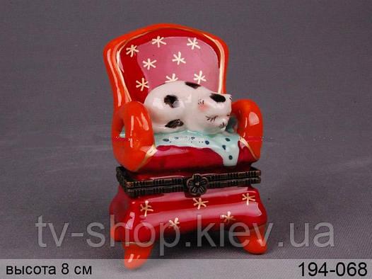 Шкатулка Котик спит в кресле