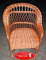 Кресло с повышенной спинкой плетеное из лозы