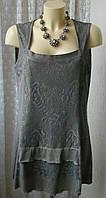 Туника женская летняя хлопок стрейч бренд р.52 5535а от Chek-Anka
