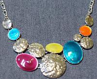 """модель """"Лето """" цветные радужные круги покрытые эмалью и серебро 925"""