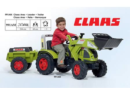 Детский трактор на педалях Falk 991AM Claas Arion 540, фото 2