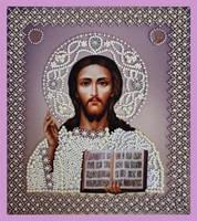 """Набор для вышивания бисером Икона """"Христа Спасителя. Венчальная пара"""""""