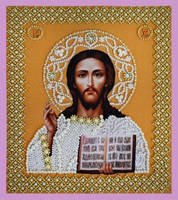 """Набор для вышивания бисером Икона """"Христа Спасителя. Венчальная пара(золото)"""""""