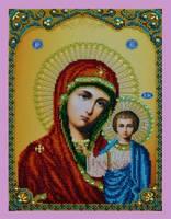 """Набор для вышивания бисером Икона """"Божией Матери"""""""