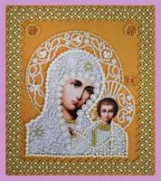 """Набор для вышивания бисером Икона """"Божией Матери. Венчальная пара (Золото)"""""""