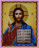 """Набор для вышивания бисером миниатюрная """"Икона Христа Спасителя"""""""