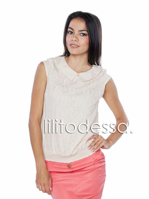 Блуза гипюровая белый