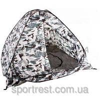 Палатка зимняя белый камуфляж с дном автомат 2,0м*2,0*1,4 м