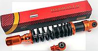 Амортизатор универсальный (+ переходник) 350mm, тюнинговый с подкачкой NDT (оранжево-черный)