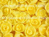 Вафельные цветы - Розы Жёлтые малые 160 шт