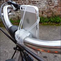 """Держатель / крепление силиконовое универсальное для телефона / смартфона на вело-руль (≤ 6,2"""")"""