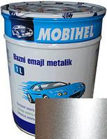"""80201 Автоэмаль базовая """"металлик"""" Helios Mobihel """"Серебряная"""", 1л"""