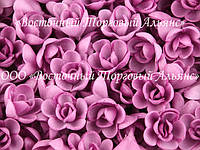 Вафельные цветы - Розы Сиреневые малые 160 шт